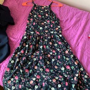 Hollister Floral Criss-Cross Dress